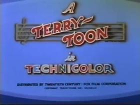 Screenshots from the 1944 Terrytoons cartoon Carmen