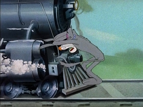 Screenshots from the 1944 MGM cartoon Screwball Squirrel