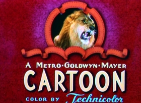 Screenshots from the 1944 MGM cartoon Million Dollar Cat