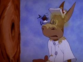 Screenshots from the 1944 MGM cartoon The Tree Surgeon