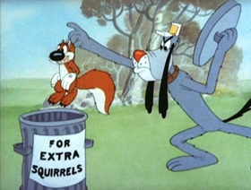 Screenshots from the 1944 MGM cartoon Happy Go Nutty
