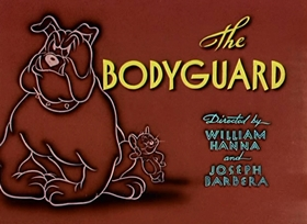 Screenshots from the 1944 MGM cartoon The Bodyguard