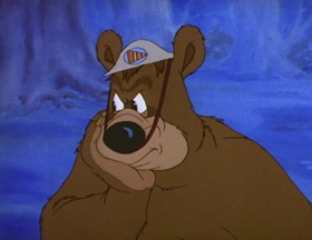 Screenshots from the 1944 MGM cartoon Bear Raid Warden
