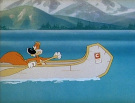 Screenshots from the 1944 MGM cartoon Big Heel Watha