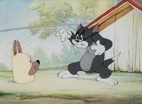 Screenshots from the 1944 MGM cartoon Puttin