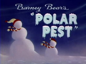 Screenshots from the 1944 MGM cartoon Barney Bear
