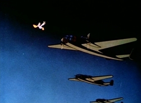 Screenshots from the 1944 Disney cartoon The Pelican and the Snipe