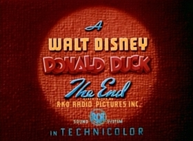 Screenshots from the 1944 Disney cartoon Donald Duck and the Gorilla