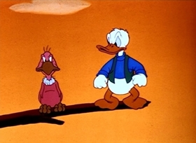 Screenshots from the 1944 Disney cartoon Contrary Condor