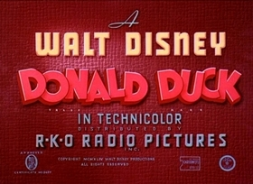 Screenshots from the 1944 Disney cartoon Commando Duck