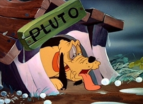 Screenshots from the 1944 Disney cartoon Springtime for Pluto