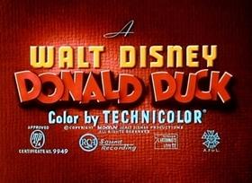 Screenshots from the 1944 Disney cartoon Donald