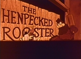 Screenshots from the 1944 Paramount / Famous Studios cartoon Henpecked Rooster