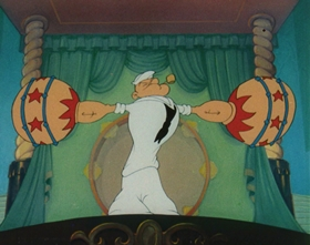 Screenshots from the 1944 Paramount / Famous Studios cartoon We