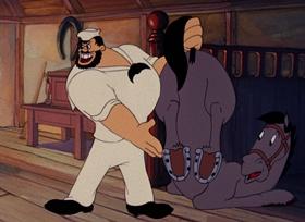 Screenshots from the 1944 Paramount / Famous Studios cartoon The Anvil Chorus Girl