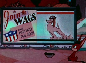 Screenshots from the 1944 Paramount / Famous Studios cartoon Yankee Doodle Donkey