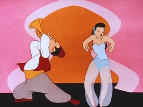 Screenshots from the 1944 Walter Lantz cartoon The Greatest Man in Siam