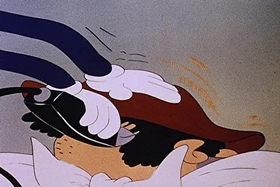 Screenshots from the 1944 Walter Lantz cartoon The Barber of Seville