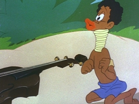 Screenshots from the 1944 Walter Lantz cartoon Jungle Jive