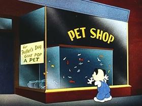 Screenshots from the 1944 Walter Lantz cartoon Fish Fry