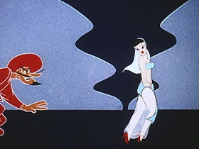 Screenshots from the 1944 Walter Lantz cartoon Abou Ben Boogie
