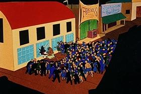 Screenshots from the 1944 Walter Lantz cartoon The Beach Nut