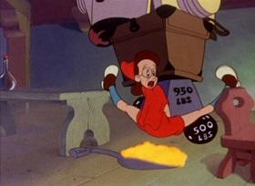 Screenshots from the 1944 Warner Bros. cartoon Little Red Riding Rabbit