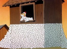 Screenshots from the 1944 Warner Brothers cartoon Swooner Crooner