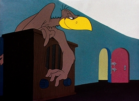 Screenshots from the 1944 Warner Bros. cartoon Lost and Foundling