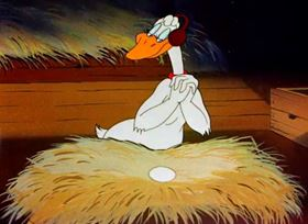Screenshots from the 1944 Warner Brothers cartoon Booby Hatched