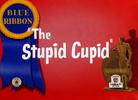 Screenshots from the 1944 Warner Brothers cartoon The Stupid Cupid