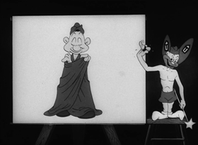 Screenshots from the 1944 Warner Brothers cartoon A Lecture on Camoulflage
