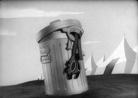 Screenshots from the 1944 Warner Bros. cartoon Gas
