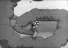 Screenshots from the 1944 Warner Brothers cartoon Gas