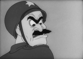 Screenshots from the 1944 Warner Brothers cartoon Gas