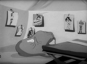 Screenshots from the 1944 Warner Brothers cartoon Censored
