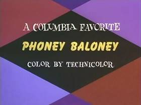 Screenshots from the 1945 Columbia cartoon Phoney Baloney