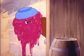 Screenshots from the 1945 MGM cartoon The Unwelcome Guest