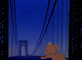 Screenshots from the 1945 MGM cartoon Mouse in Manhattan