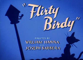 Screenshots from the 1945 MGM cartoon Flirty Birdy