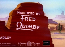 Screenshots from the 1945 MGM cartoon Wild and Woolfy