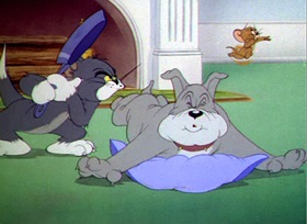 Screenshots from the 1945 MGM cartoon Quiet Please