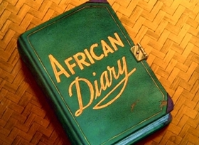 Screenshots from the 1945 Disney cartoon African Diary