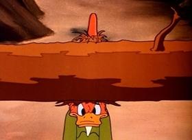 Screenshots from the 1945 Disney cartoon Old Sequoia