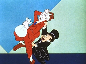 Screenshots from the 1945 Walter Lantz cartoon The Pied Piper of Basin Street