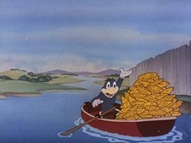 Screenshots from the 1945 Walter Lantz cartoon Crow Crazy