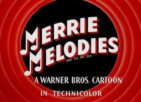 Screenshots from the 1945 Warner Brothers cartoon Herr Meets Hare