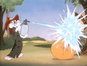 Screenshots from the 1945 Warner Brothers cartoon The Unruly Hare
