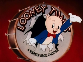 Screenshots from the 1945 Warner Bros. cartoon Trap Happy Porky
