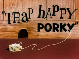 Screenshots from the 1945 Warner Brothers cartoon Trap Happy Porky